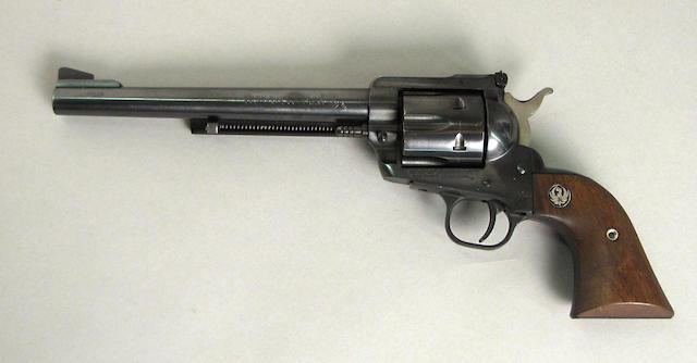 A Sturm Ruger Blackhawk revolver