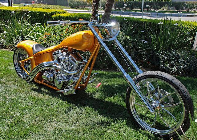 Bonhams 2001 Matt Hotch Goldmember 113ci Custom Motorcycle Frame