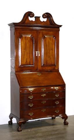 A Georgian style mahogany secretary