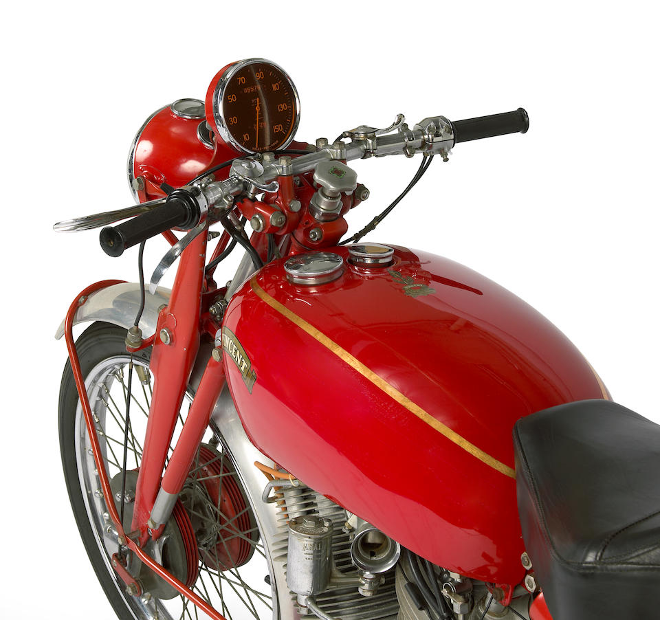 One of only 15 produced,1950 Vincent Series C White Shadow Frame no. RC6376A Engine no. F10AB/1A/4476