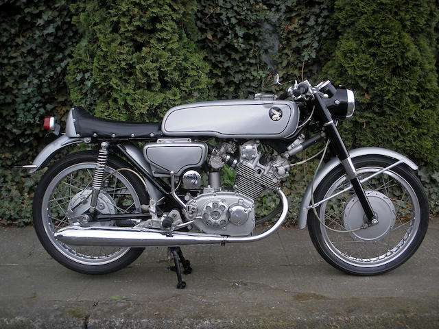 2,601 kilometers from new,1963 Honda 125cc CR93 Frame no. CR933100016 Engine no. CR93E3100051