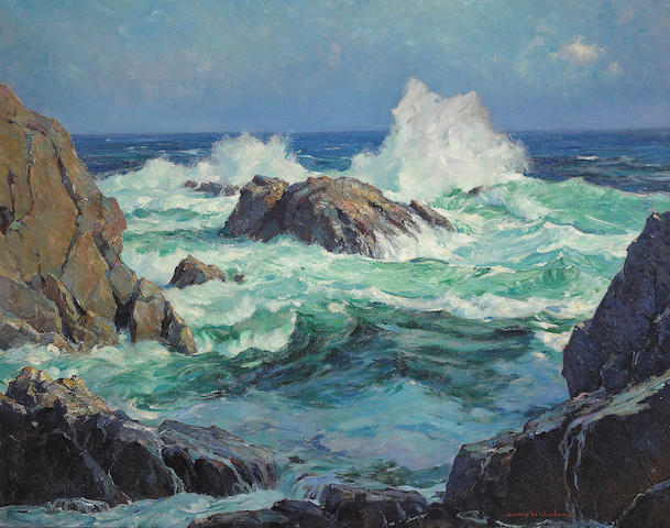 Stanley Wingate Woodward (American, 1890-1970) 'The restless sea' 40 x 50in