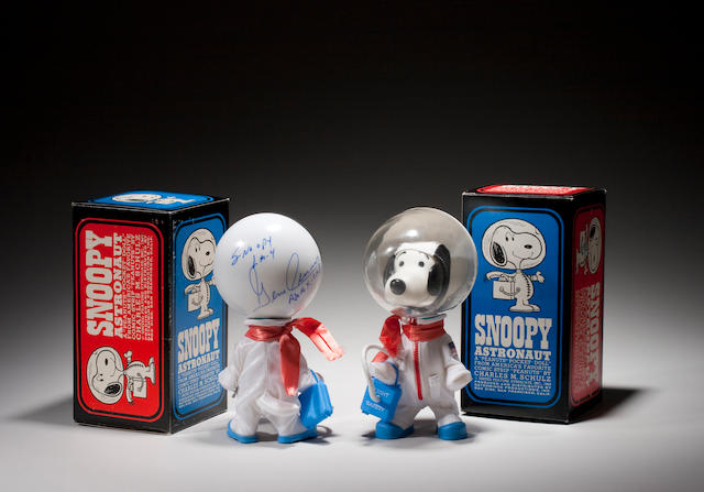 SNOOPY ASTRONAUT DOLLS, Signed by Stafford, Signed by Cernan