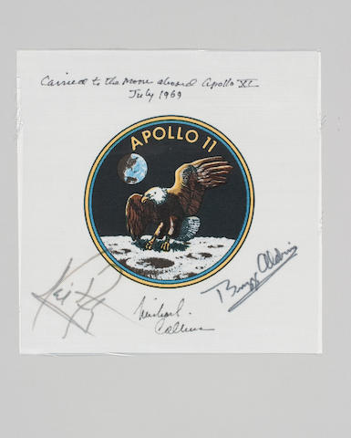FLOWN CREW SIGNED Apollo 11 Beta Cloth Emblem