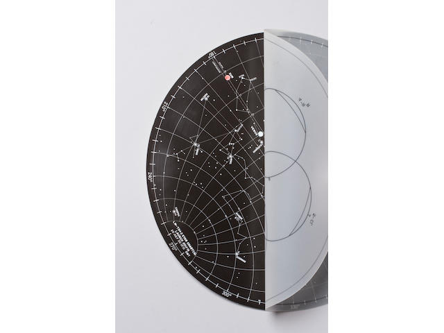 FLOWN Apollo 11 Lunar Surface Star Chart