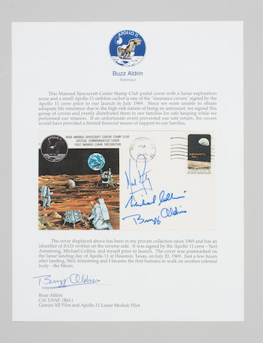 """LIFE INSURANCE"" FOR THE APOLLO 11 CREW."