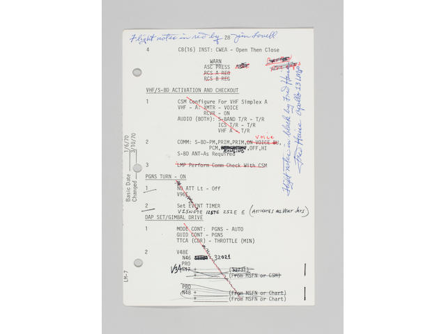 FLOWN A-13 CONTINGENCY C_List Sheet, page 28 and 29 with flt notes