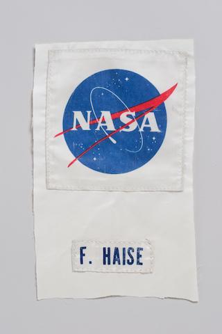 FLOWN APOLLO 13 PLSS NASA Emblem and Name Tag
