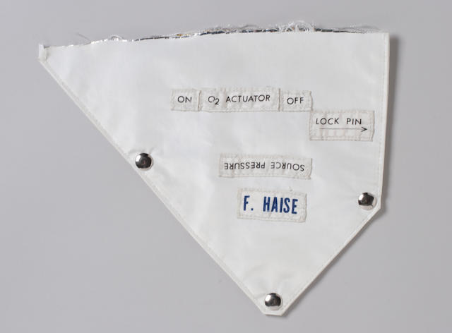 FLOWN APOLLO 13 OPS FLAP AND NAME TAG.