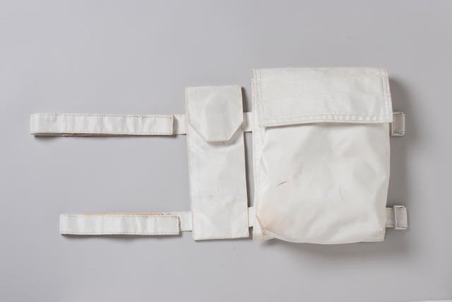 SPACE SUIT STRAP-ON POCKET USED ON APOLLO 13.