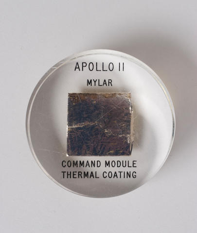 FLOWN Apollo 11 Mylar lucite