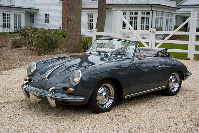 One of only 28 produced,1963 Porsche 356 Carrera 2 Convertible  Chassis no. 157 977