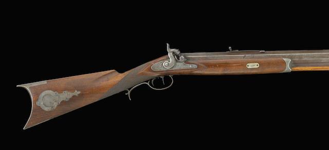 A rare San Francisco half-stock percussion target rifle by John Bach