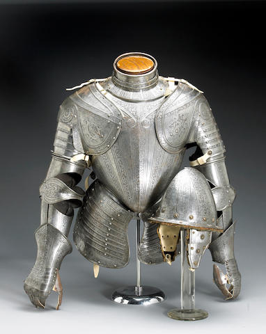 A composite Italian three-quarter suit of armor in the Pisan manner