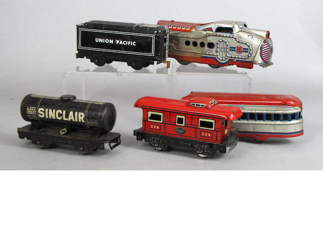 Lithographed American trains