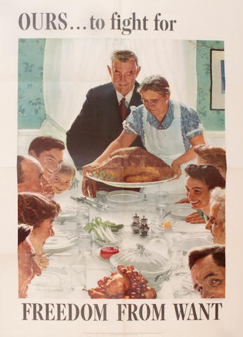 Norman Rockwell (American, 1894-1978); Four Freedoms; (4)
