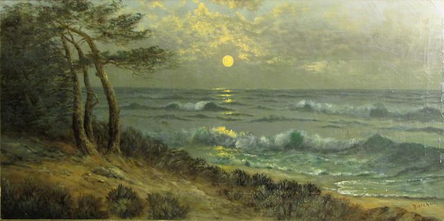 Eliza Rosanna Lamb Barchus (American, 1857-1959) Monterey Bay 18 x 36in