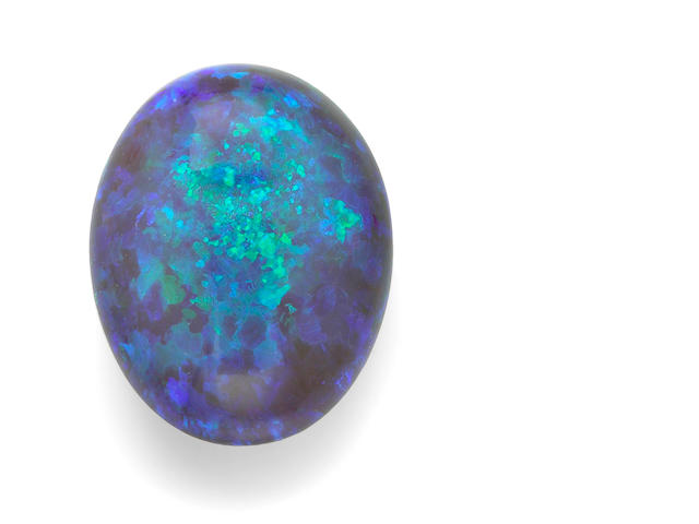 Exceptional Large Black Crystal Opal