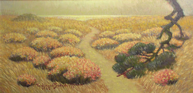Ferdinand Burgdorff (American, 1881-1975) Landscape, 1965 10 3/4 x 21 1/2in
