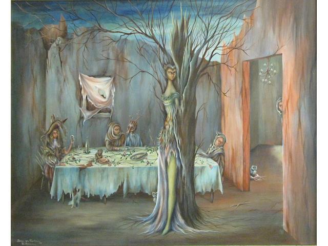 Gerrie von Pribosic Gutmann (American, 1921-1969) The dinner party 16 x 20in