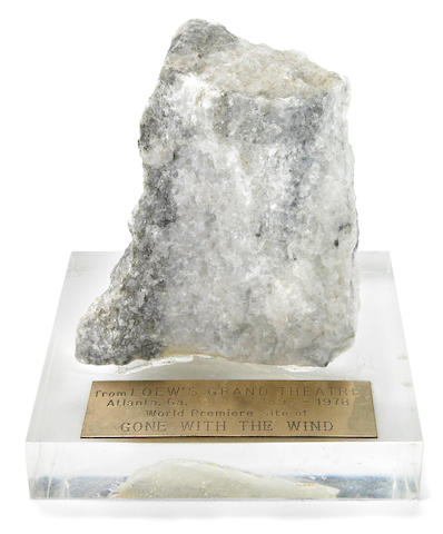 A piece of stone from the Lowe's Grand Theatre in Atlanta, GA, 1978