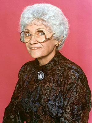 Estelle Getty's eyeglasses worn throughout series The Golden Girls