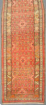 A Malayer runner  size approximately 3 ft. 8 in. x 11 ft. 10 in.