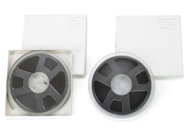 A John Lennon and others likely never-before-heard set of reel-to-reel tape recordings, 1974
