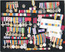 A lot of British miniature medals and ribbon bars