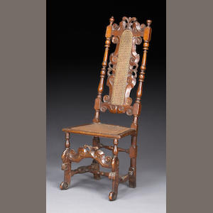 A William & Mary walnut side chair, late 17th century