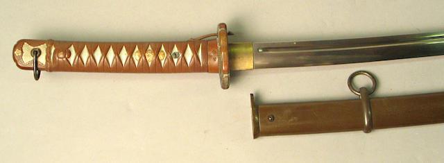 A Japanese shin-gunto NCO sword
