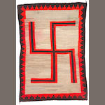 A Navajo rug, 9ft 1in x 6ft 4in