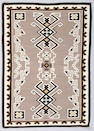 A Navajo Two Grey Hills rug, 6ft 2in x 4ft 5in