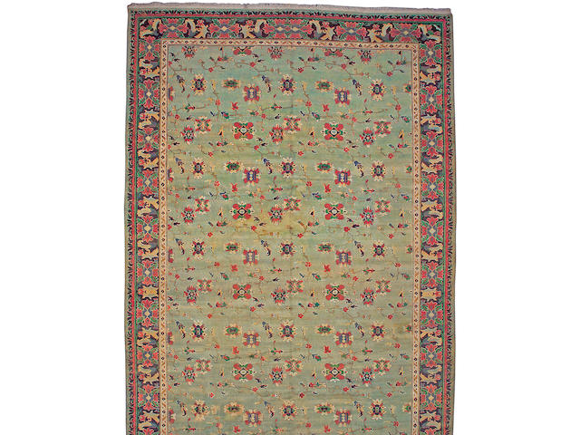 A Oushak carpet West Anatolia, size approximately 12ft. 8in. x 21ft. 8in.
