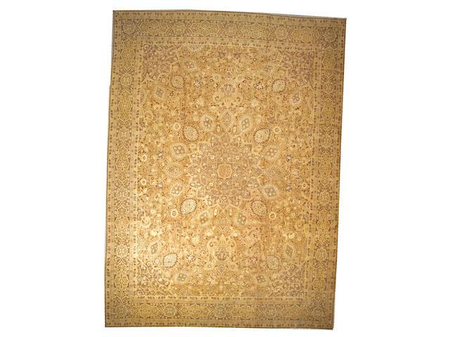 A Hadji Jalili Tabriz carpet Northwest Persia, size approximatley 13ft. x 17ft. 8in.