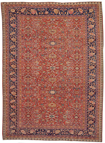 A Fereghan Sarouk carpet Central Persia, size approximately 8ft. 9in. x 12ft.