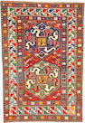 A Kazak rug Caucasus, size approximately 4ft. 3in. x 8ft. 6in.