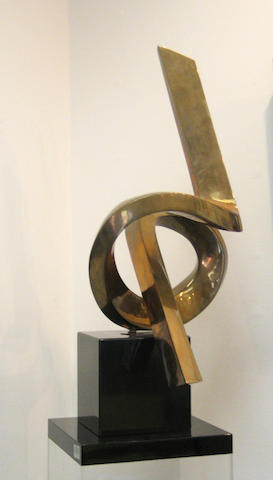 Siró (American, born 1945) Untitled (Abstract sculpture), 1981 height with pedestal 78in