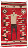 A Navajo pictorial rug, attributed to Gle-nup-pah