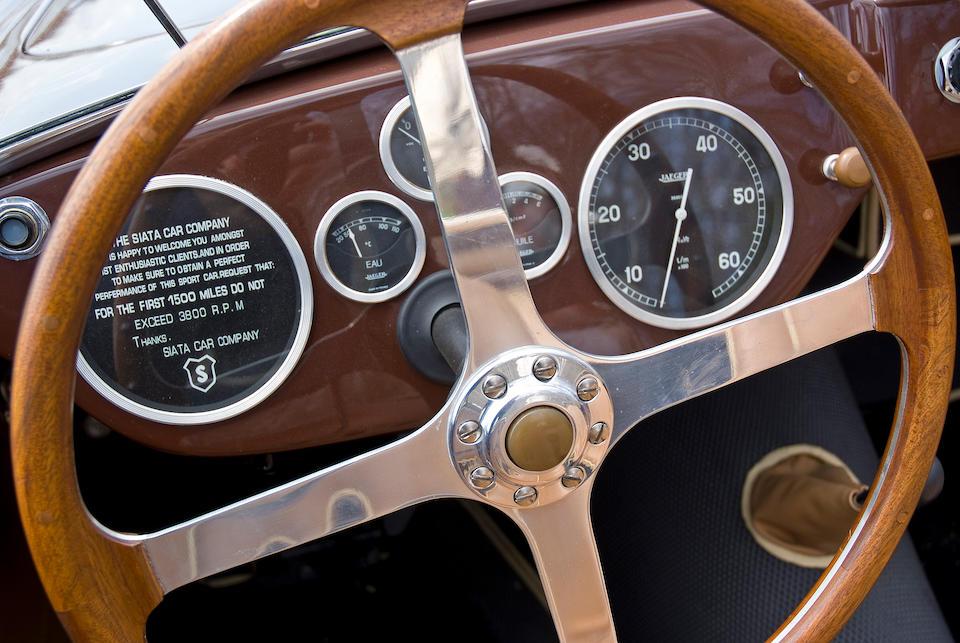 The Last 208S bulit,1953 SIATA 208S Barchetta  Chassis no. BS 535 Engine no. BS 179