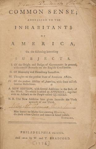 PAINE, THOMAS. 1737-1809.