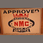 A National Motor Club 'King of the Road' Approved Service sign,