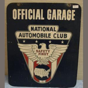 Bonhams a national automobile club 39 official garage 39 sign for National motor club phone number