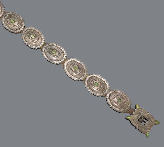 A Navajo concha belt
