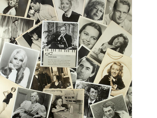 A large group of assorted black and white publicity photographs, 1930s-1970s
