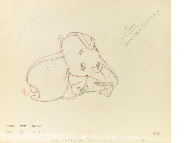 WD drawing of Dumbo