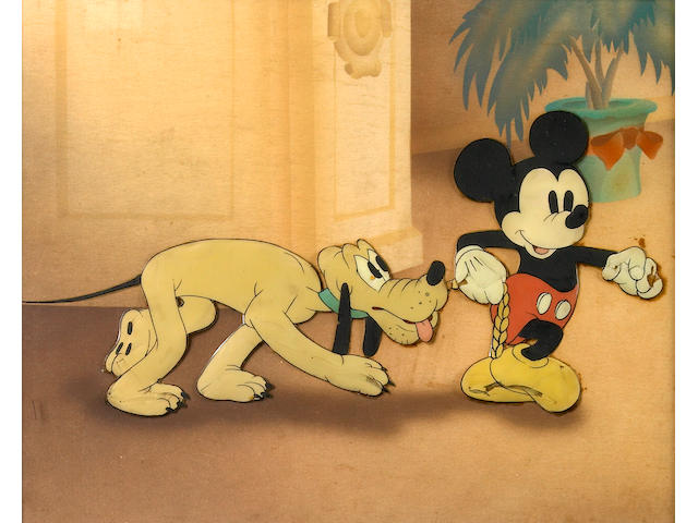 "A Walt Disney celluloid from ""Society Dog Show"""
