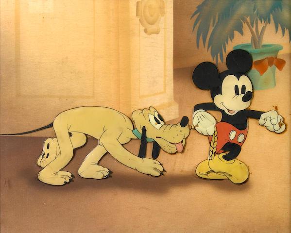 "A Walt Disney celluloid from ""Society Dog Show"""