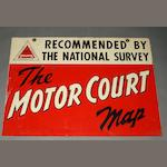 A 'The Motor Court Map' sign,