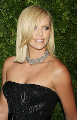 Charlize Theron Robyn Rhodes three strand pendant necklace